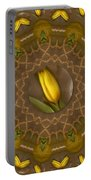 Power To The Tulips Pop Art Portable Battery Charger