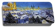 Prague After Snow Fall Portable Battery Charger