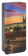 Prague At Dusk Portable Battery Charger