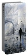 Prague Charles Bridge Morning Walk Portable Battery Charger