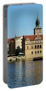 Prague East And Charles Bridge Portable Battery Charger