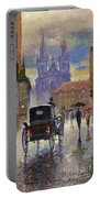 Prague Old Town Square Old Cab Portable Battery Charger