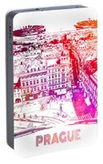 Prague Skyline Panorame Portable Battery Charger