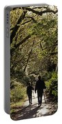 Prairie Creek Redwood State Park With Sun Breaking Through Trees Portable Battery Charger