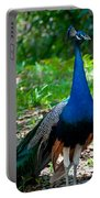 Prancing Peacock Portable Battery Charger