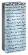 Prayer Of Saint Francis Portable Battery Charger