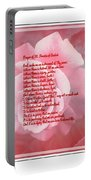 Prayer Of St. Francis And Pink Rose 2 Portable Battery Charger