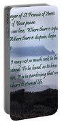 Prayer Of St Francis Of Assisi Portable Battery Charger by Sharon Elliott
