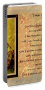 Prayer To St. Dymphna 2 Portable Battery Charger