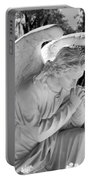 Praying Male Angel Near Infrared Black And White Portable Battery Charger