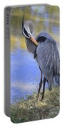 Preening By The Pond Portable Battery Charger