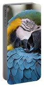 Preening Macaw Portable Battery Charger