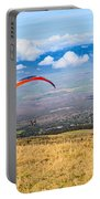 Preparing For Take Off - Paragliders Taking Off High Over Maui. Portable Battery Charger