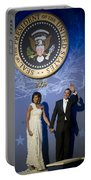 President And Michelle Obama Portable Battery Charger by had J McNeeley