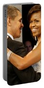 President And Michelle Obama Portable Battery Charger by Official Government Photograph