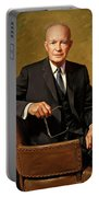 President Dwight D. Eisenhower By J. Anthony Wills Portable Battery Charger