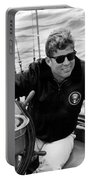 President John Kennedy Sailing Portable Battery Charger by War Is Hell Store