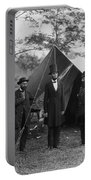 President Lincoln At Antietam Portable Battery Charger