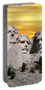 President Reagan At Mount Rushmore Portable Battery Charger