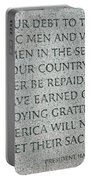 President Truman's Dedication To World War Two Vets Portable Battery Charger