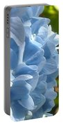 Pretty Blue Flower Portable Battery Charger