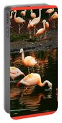 Pretty Flamingos Portable Battery Charger