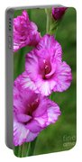 Pretty Gladiolus Portable Battery Charger