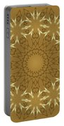 Pretty Golden Flowers Portable Battery Charger
