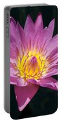 Pretty In Pink And Yellow Water Lily Portable Battery Charger