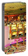 Pretty In Pink Bar Stools And Slots Reserved For Spring Break High Rollers   Portable Battery Charger