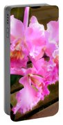 Pretty In Pink Cattleya Orchids Portable Battery Charger