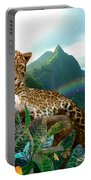 Pretty Jaguar Portable Battery Charger by Alixandra Mullins