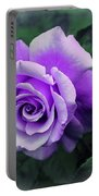 Pretty Lilac Rose Portable Battery Charger