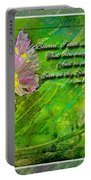 Pretty Little Weeds With Photoart And Verse Portable Battery Charger
