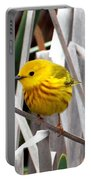 Pretty Little Yellow Warbler Portable Battery Charger