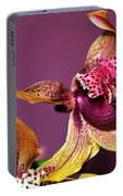 Pretty Orchid On Pink Portable Battery Charger