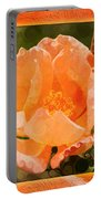 Pretty Peachy Rose Abstract Flower Portable Battery Charger