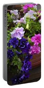 Pretty Petunias Portable Battery Charger