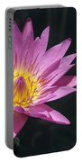 Pretty Pink And Yellow Water Lily Portable Battery Charger