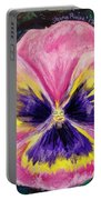 Pretty Pink Pansy Person Portable Battery Charger