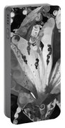 Pretty Pouting Pleasures A Black And White Painting Portable Battery Charger