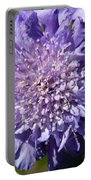 Pretty Purple Flower Portable Battery Charger