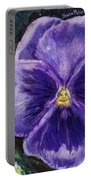 Pretty Purple Pansy Person Portable Battery Charger