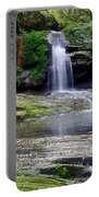 Pretty Waterfalls In Rainforest Portable Battery Charger