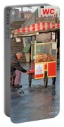 Pretzel Seller With Pushcart Istanbul Turkey Portable Battery Charger