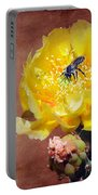 Prickly Pear And Bee Portable Battery Charger