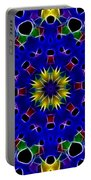Primary Colors Fractal Kaleidoscope Portable Battery Charger