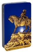 Prince Eugene Of Savoy Statue At Night Portable Battery Charger