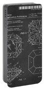 Princess Cut Diamond Patent Barcode Gray Portable Battery Charger