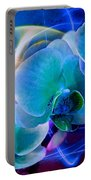 Prismatic Orchid Swirl Portable Battery Charger